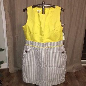 NWT Alyx yellow/seersucker dress, size 18